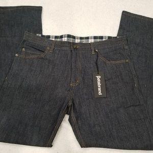 Betabrand Men Jeans Size 38 x 34 Blue NWT Fleece
